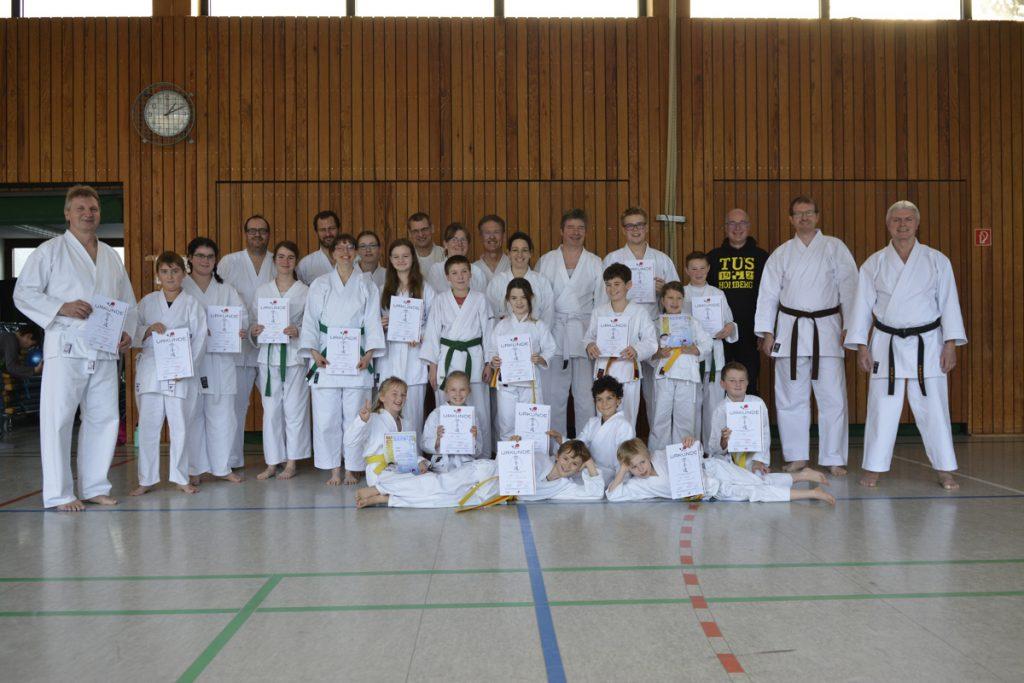 Karate_Kyu-Prüfung-2019 Tus Homberg